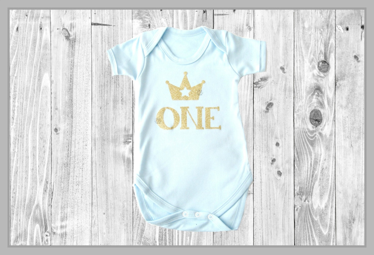 ONE crown boy bodysuit  1st birthday outfit blue  gold one baby outfit baby boy glitter bodysuit cake smash outfit prince birthday