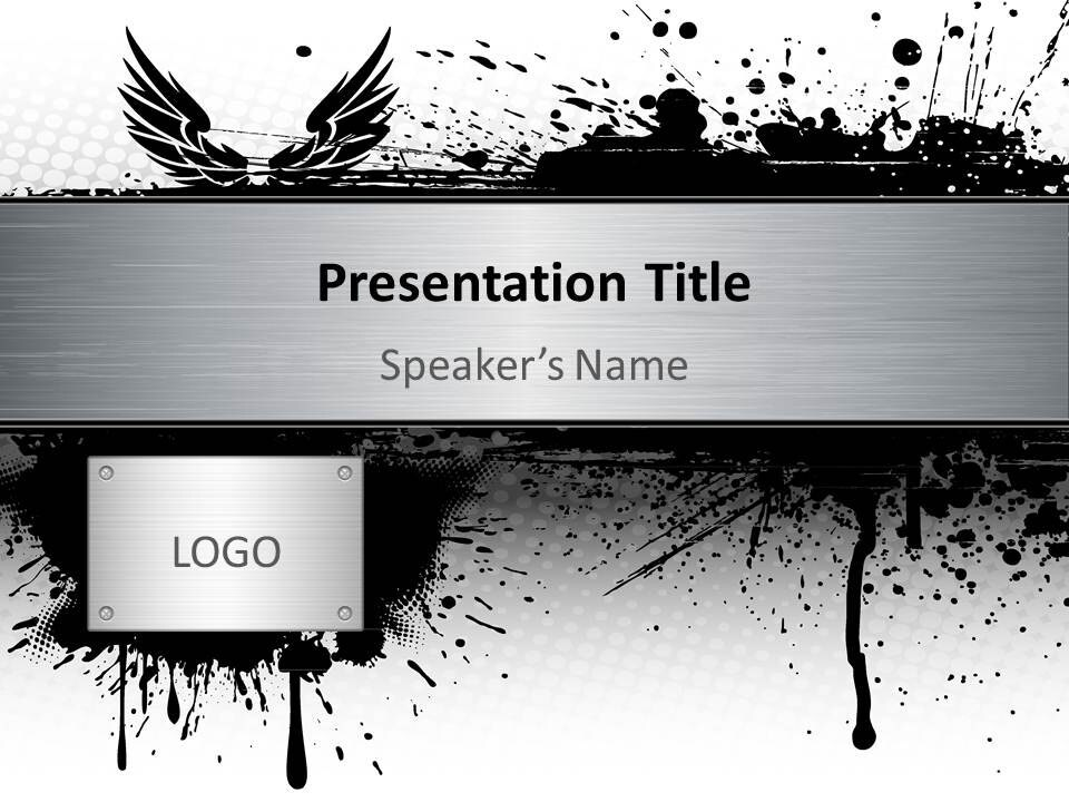 items similar to powerpoint template grayscale gothic 4