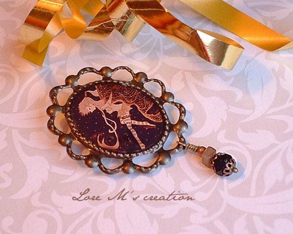 Jewel, fairy brooch / broche et bijoux fée