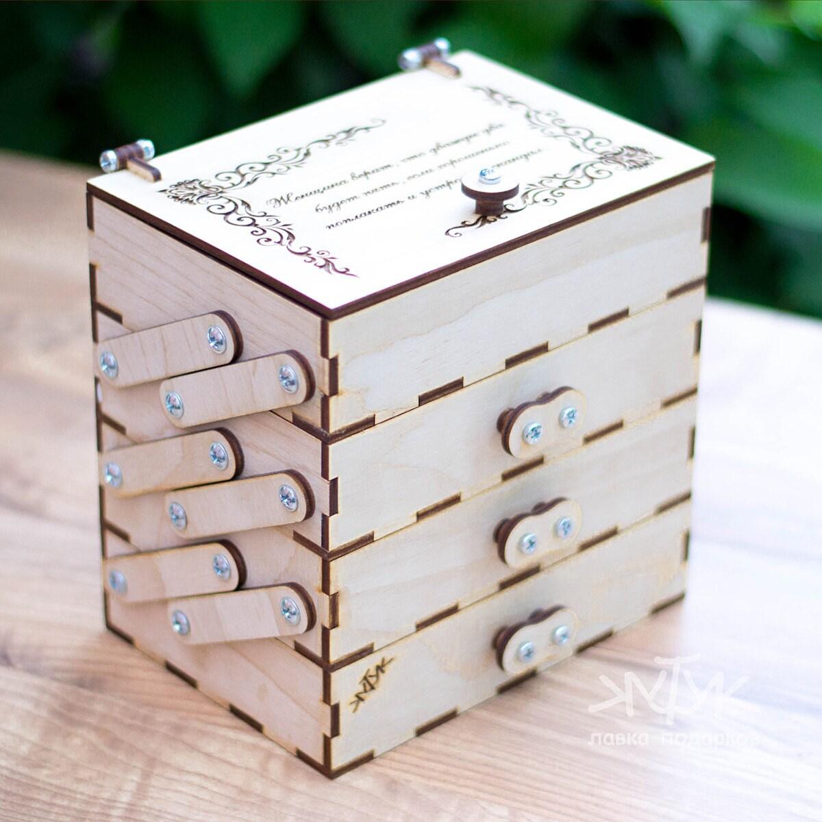 Выдвигающаяся коробочка своими руками 63