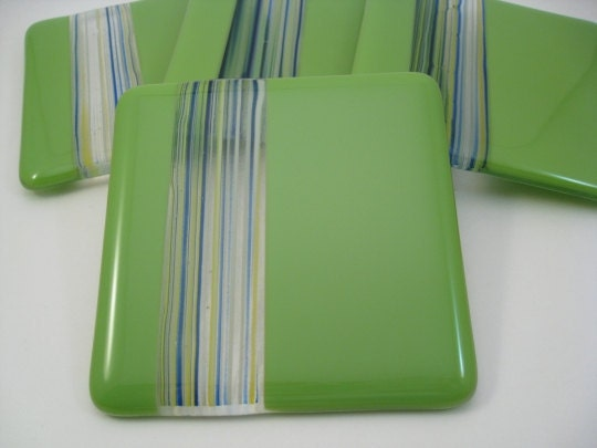 Fused Glass Coasters - Amazon River