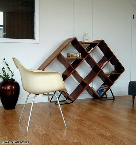 Argyle Shelving Unit  Mid Century Eames Era Furniture design