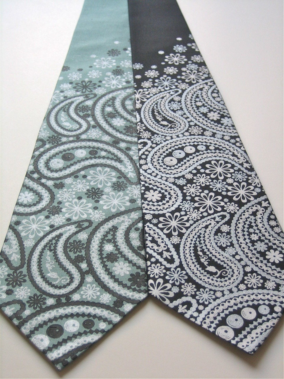 Floral Paisley Silk Tie - Choose Your Color