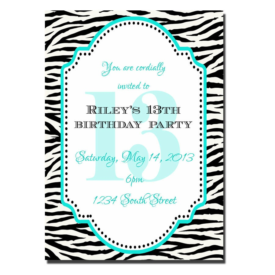 Similiar 13 Year Old Girl Birthday Invitations Keywords – 10 Year Old Birthday Invitations
