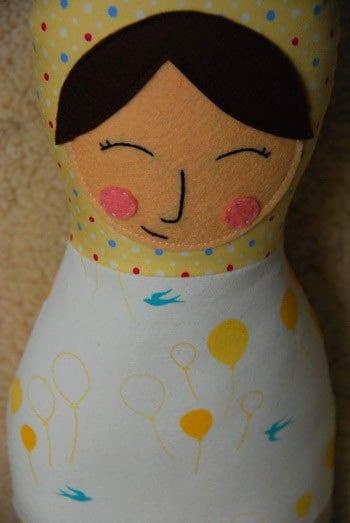 Wool   Filled Matryoshka Doll -  Irina and friend