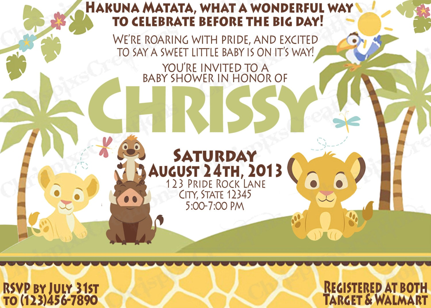 Ambitious image with printable lion king baby shower invitations