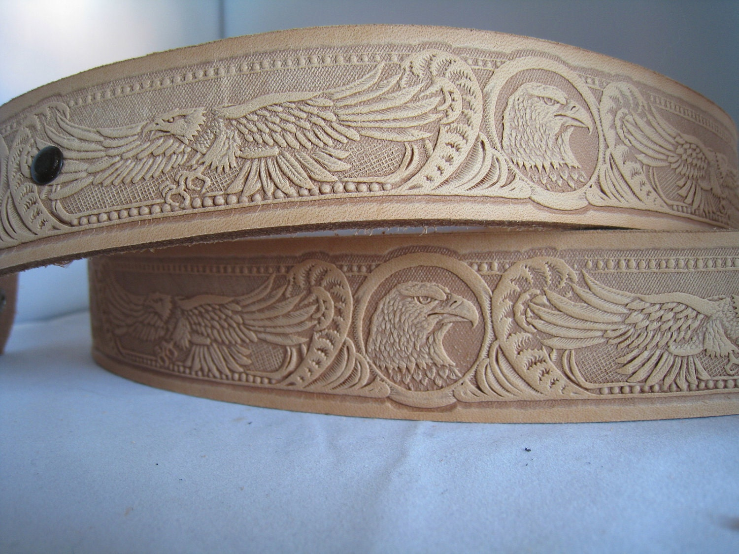 tandy leather embossed belt blank eagle by