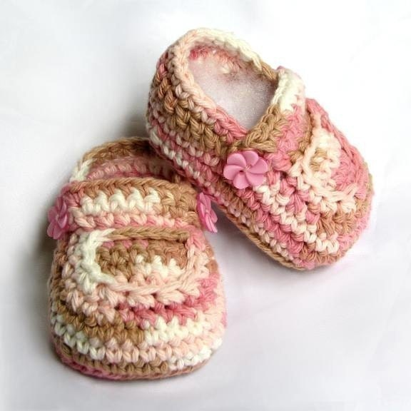 Pattern Crochet Booties Baby Neapolitan pdf