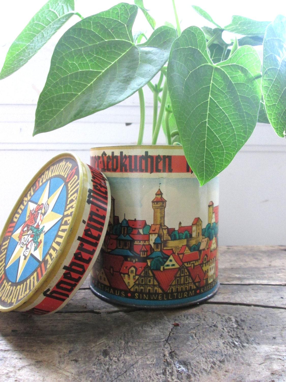 items similar to vintage tin german tin candy tin home