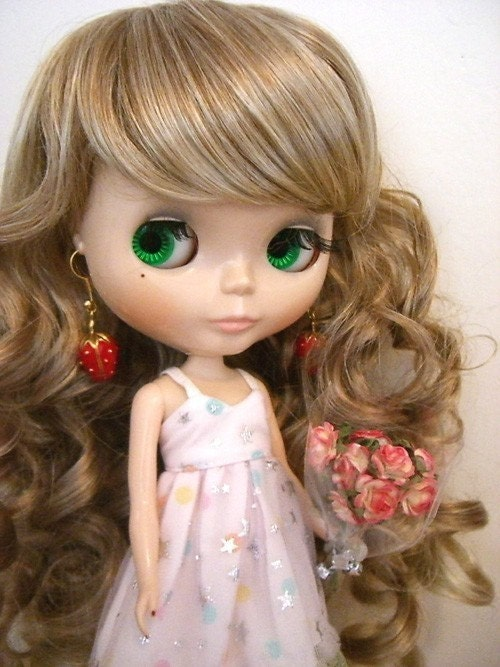 Blythe Blonde Princess Curly Long Wig