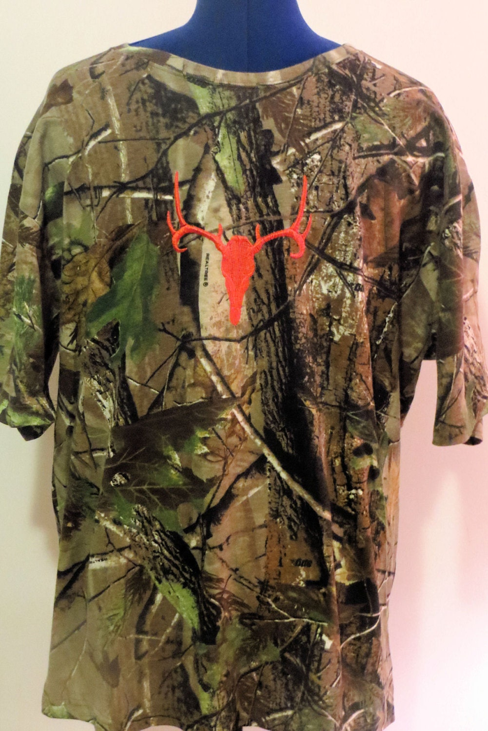 Men 39 S Realtree Camo Orange Embroidered By Loveindianaoutdoors