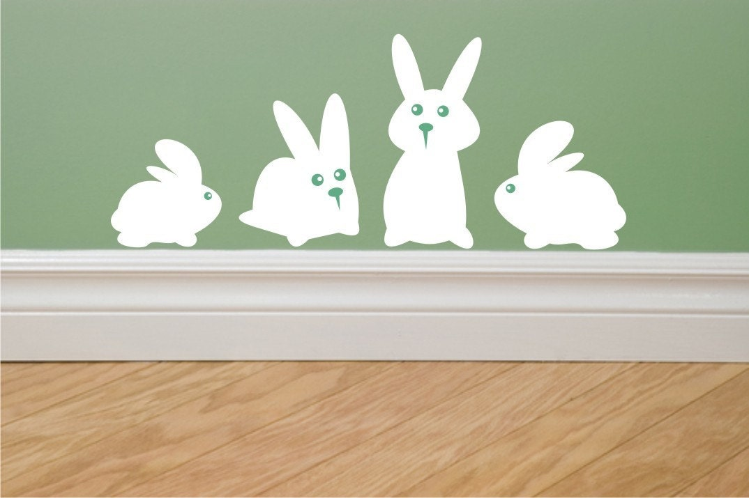 funny bunny pics. Funny Bunny wall decals set of