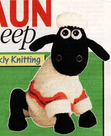 Wallace And Gromit Knitting Pattern : SHAUN the SHeeP and GROMIT DoG Alan Dart by patternsofyesteryear