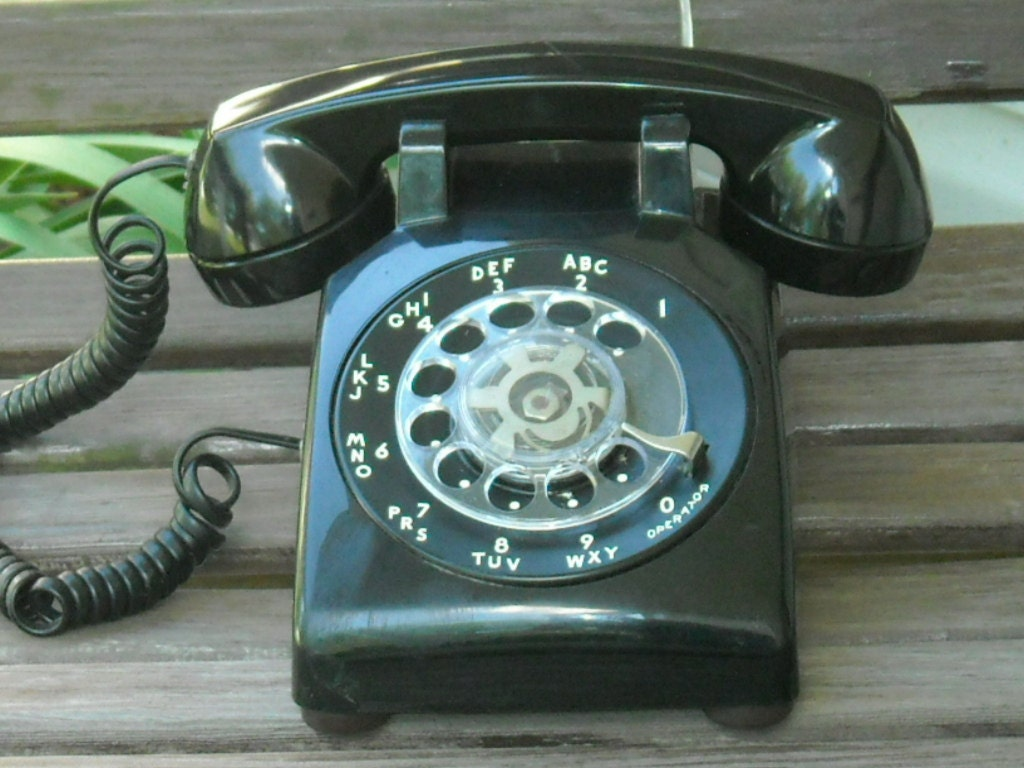 Vintage Rotary Dial Telephone Black Western Electric Phone