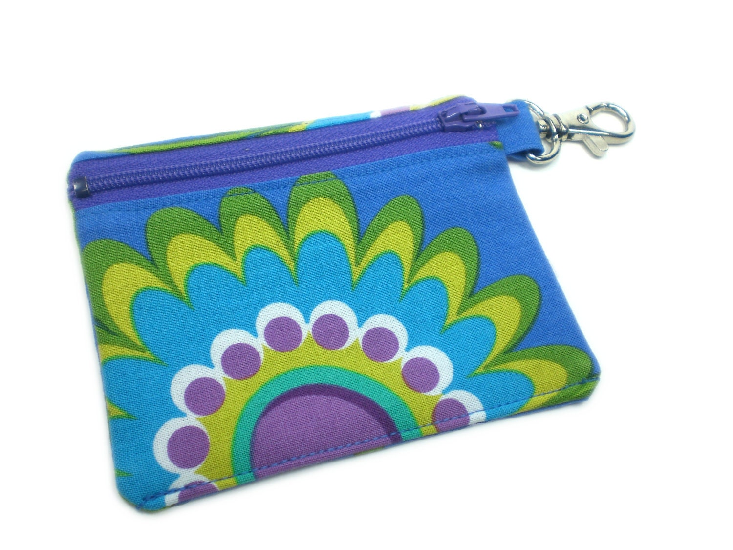 Big flower 4in abstract wallet card holder coin purse