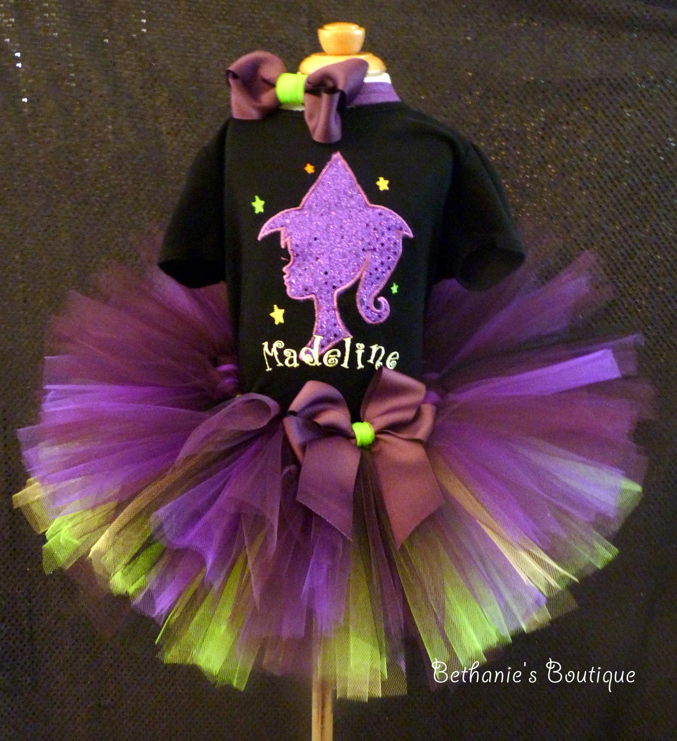 Halloween witch Tutu Set (Newborn-5T) Customized