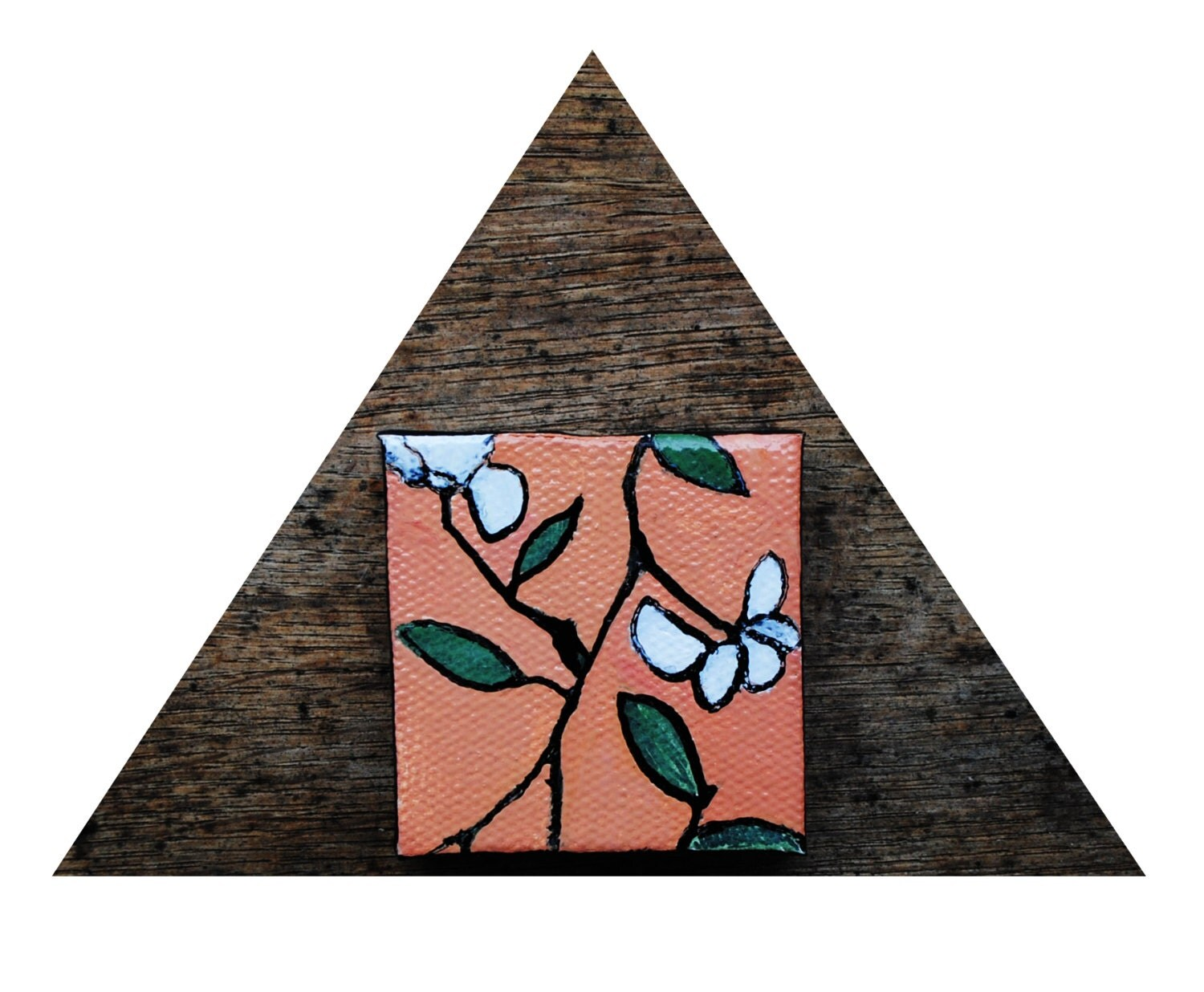 Tiny Spring Flowers.  Original Oil Painting.  Floral WallPaper Series 1.  (Ships March 15th.) - SorchaMoon