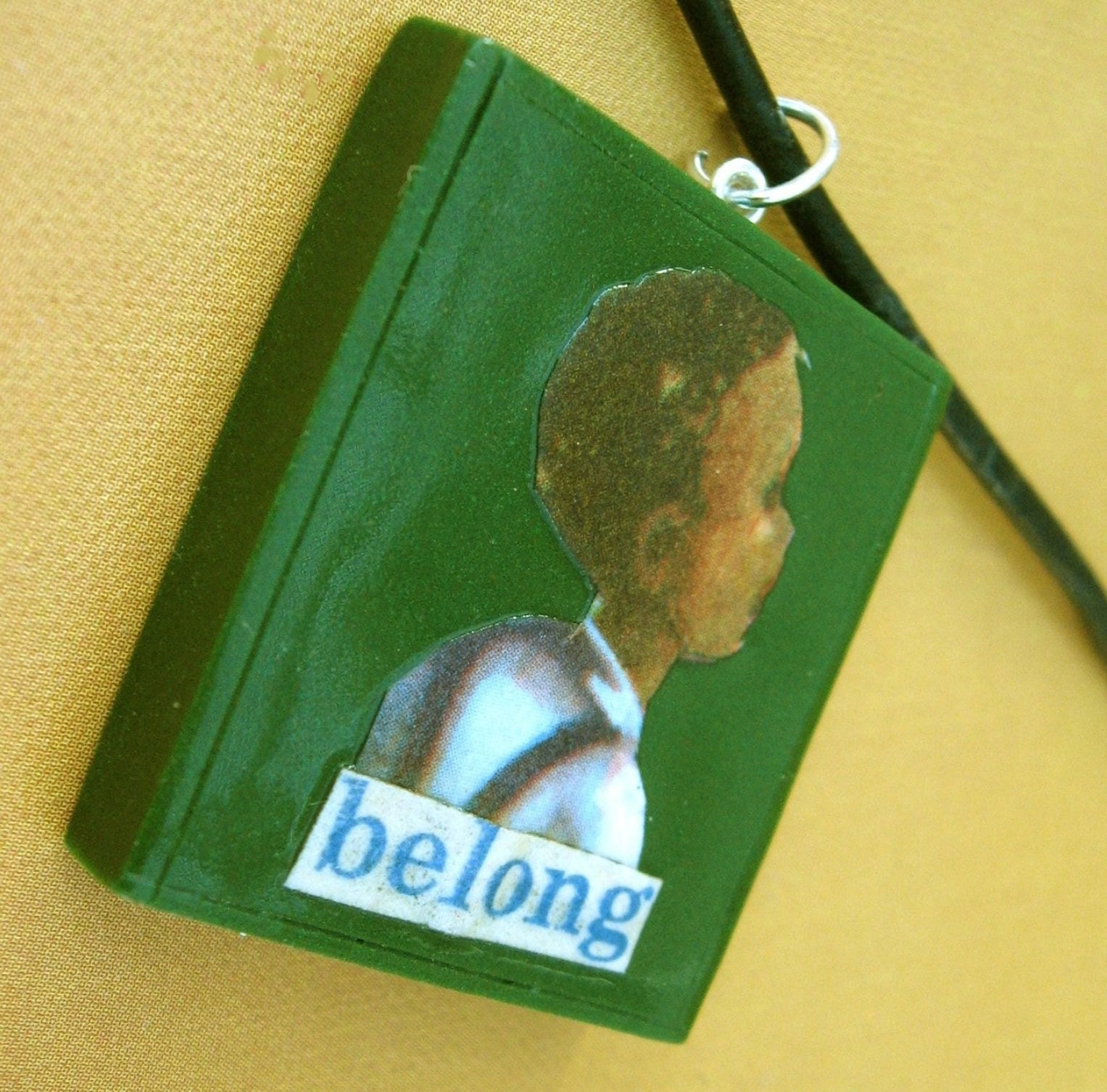 Belong pendant (on leather cord)