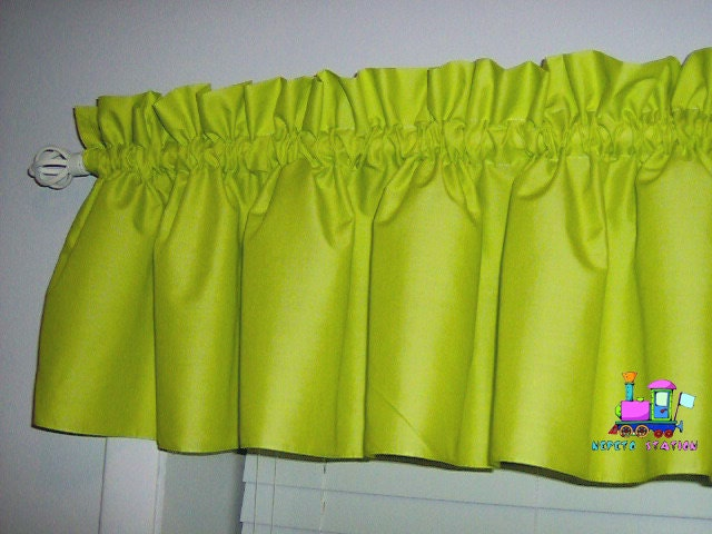 Solid Lime Green Valance Curtain Window By Babycribskirts On Etsy
