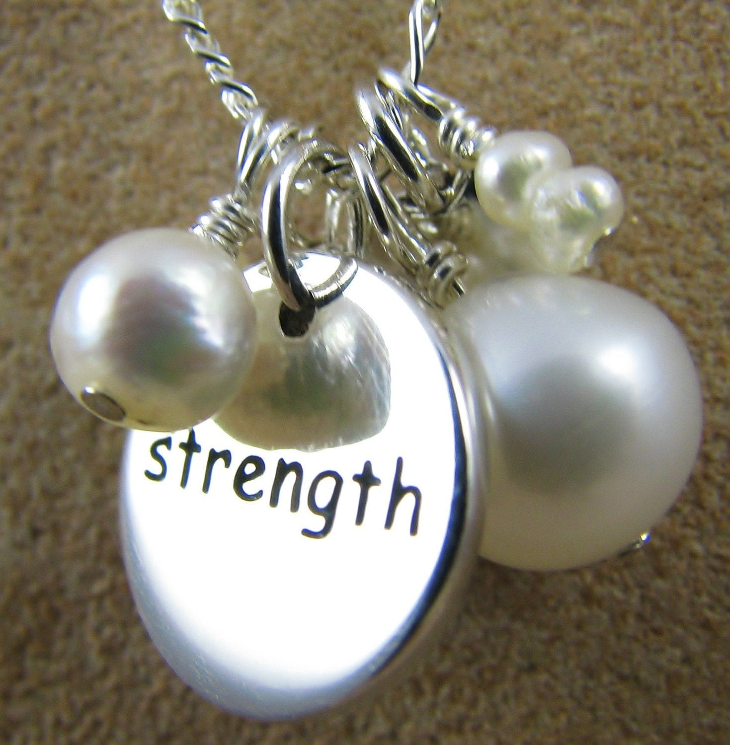 survivor jewelry strength courage charm necklace by