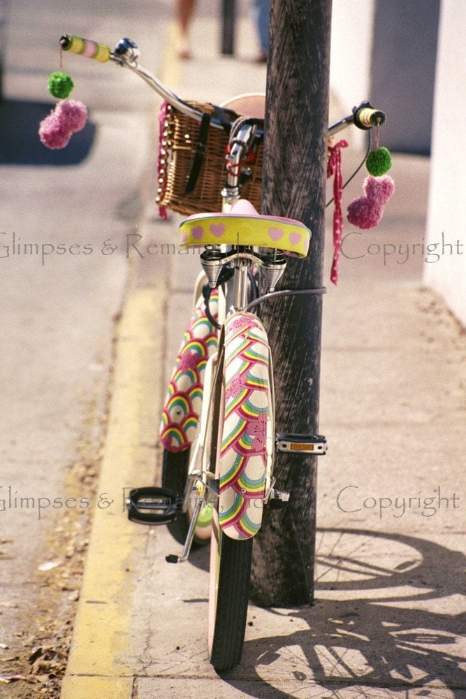 Colorful Key West Bicycle 5 x 7 Photo Greeting Card