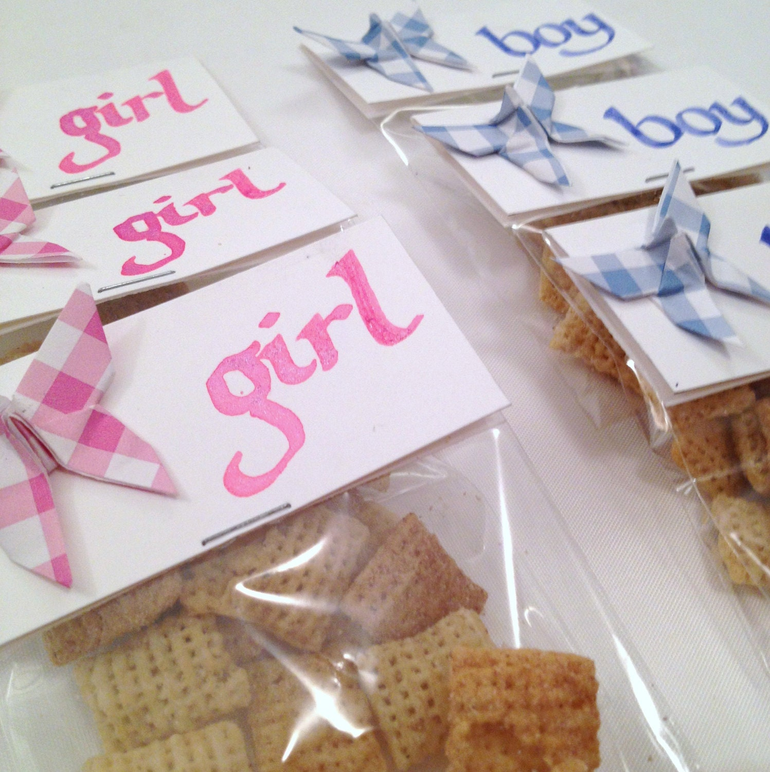 items similar to baby shower treat bags with origami butterflies