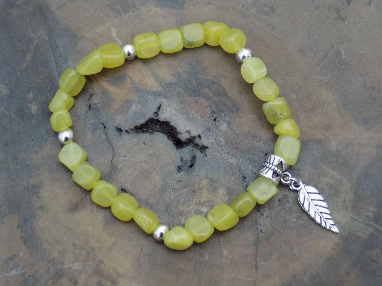 Jade Bracelet Green Gemstone Olive Jade Bracelet Angel Bracelet Spiritual Jewelry Bead Bracelet Jade Gemstone Crystal Healing.