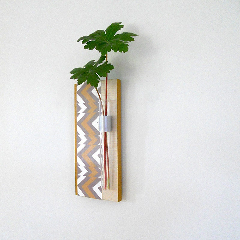 Wall vase test tube west wall hanging flower vase by for Test tube flower vase rack