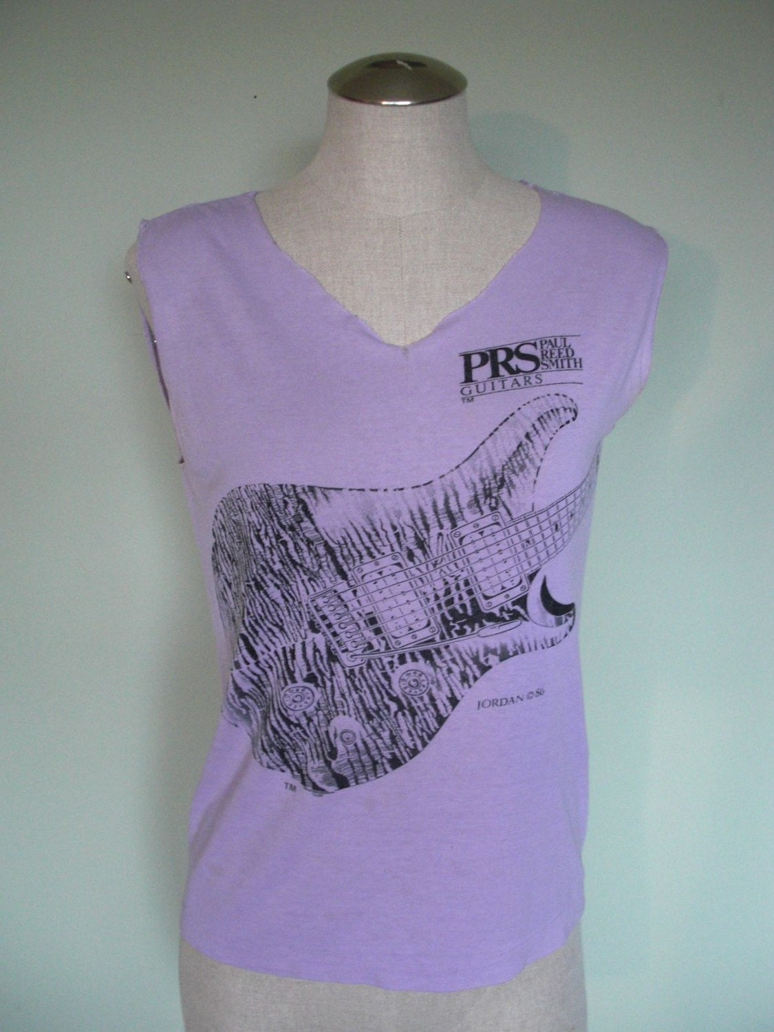 Vintage 80s Paul Reed Smith Guitars Cut Off Tee