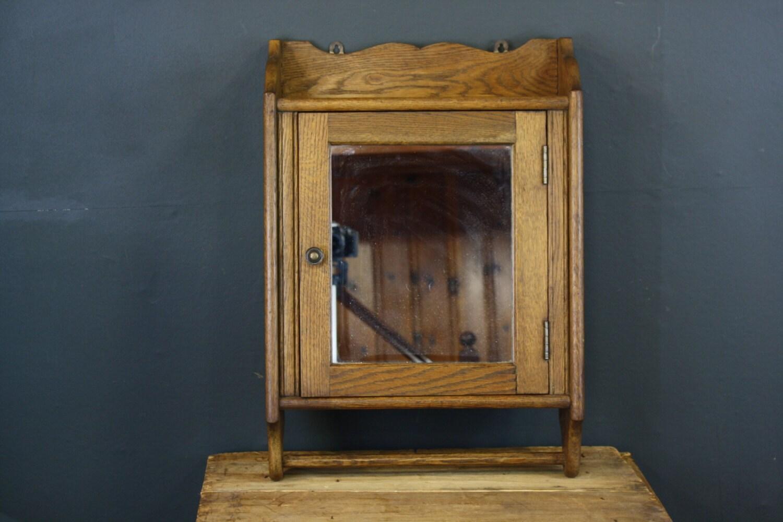Beau Small Antique Brass Medicine Cabinet: RESERVED Medicine Cabinet / Antique Wood Medicine By Sevenbc