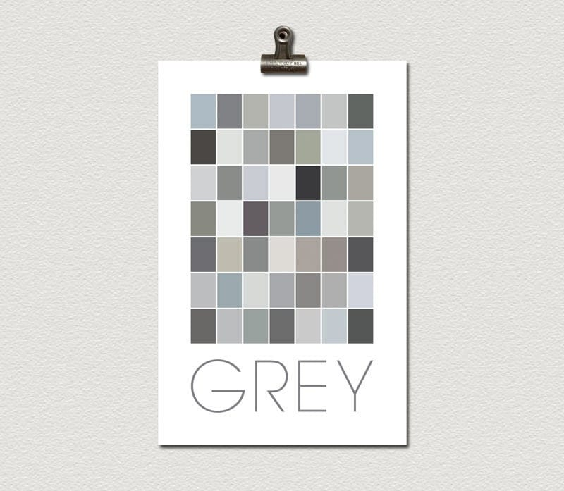 Forty Nine Squares Of Different Shades Of Grey By