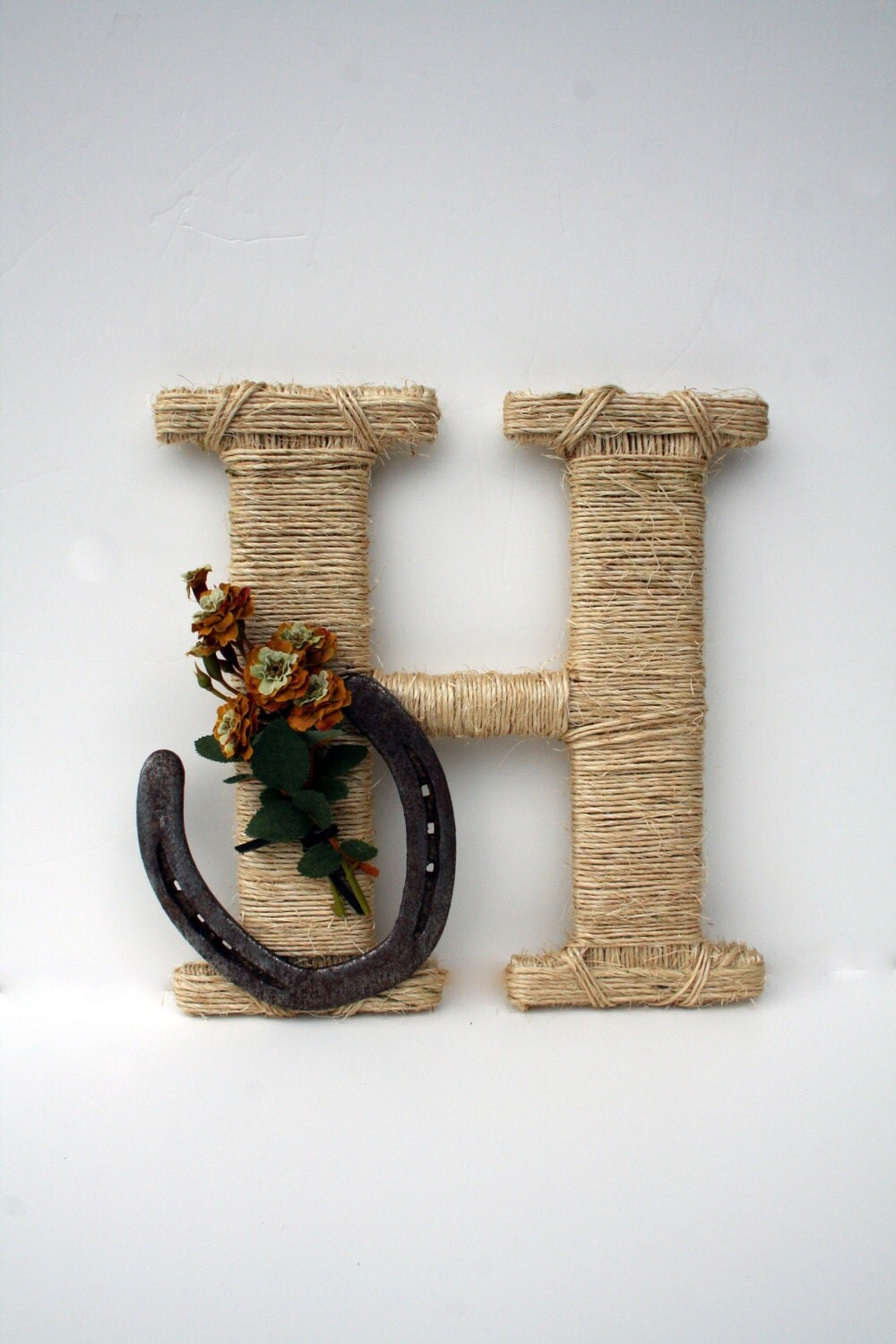 Rustic Wrapped Letter Wall Letter Country Decor By
