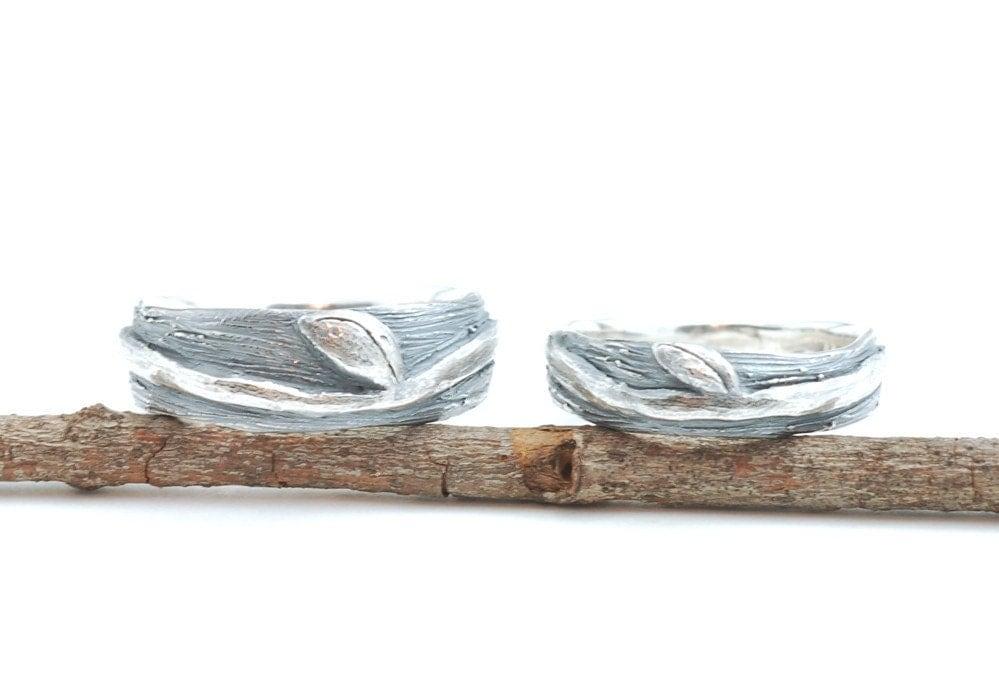 nature rings - Nature Wedding Rings