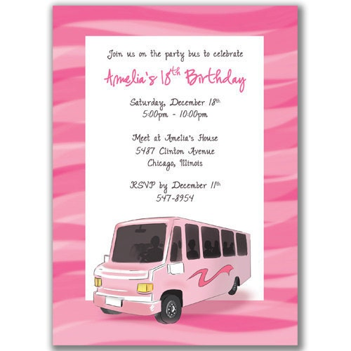 Party Bus Invitations can inspire you to create best invitation template
