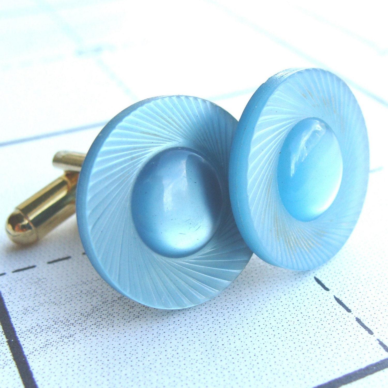 Aqua Blue Cufflinks