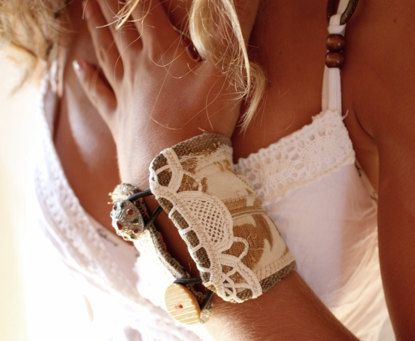 Honey Washed Ashore, a bracelet-cuff by LaTouchables