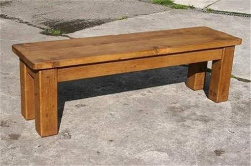 Rustic plank Furniture NEW Real Solid Wood Dining Table Bench  Rustic Plank Sawn Pine Furniture rustic pine furniture chair seat
