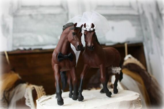 Cake Topper Winter Horses