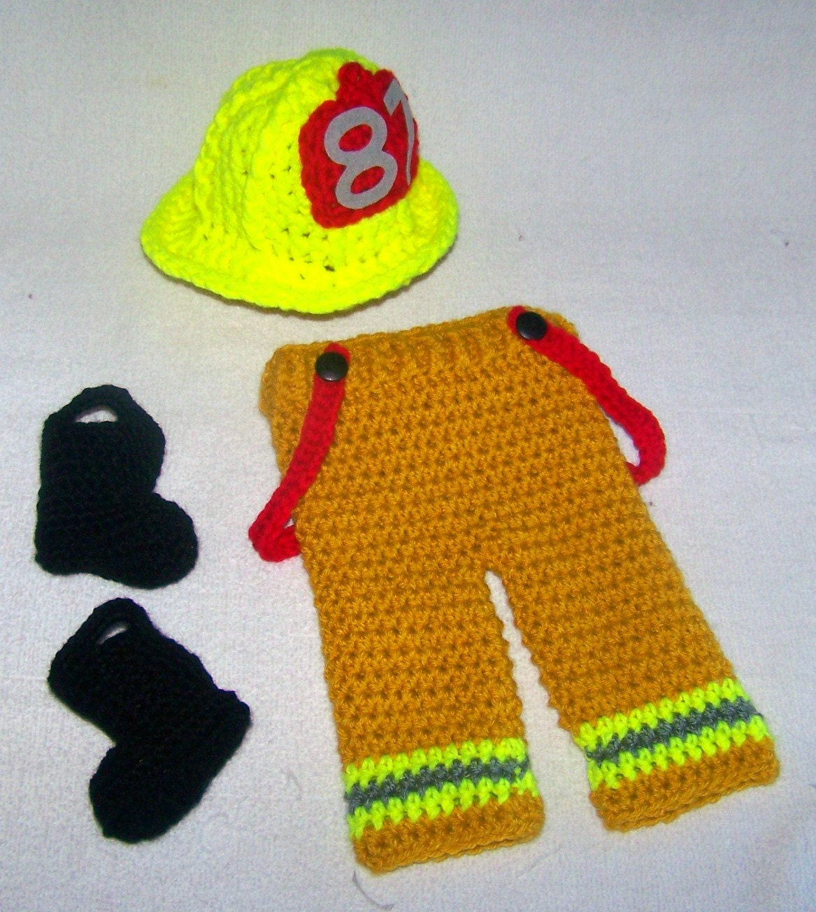 Firefighter baby boy clothes bunker pants by babypropsbyconnie