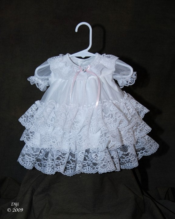 Chloe Baby Girl Christening Blessing Gown by Debragardner