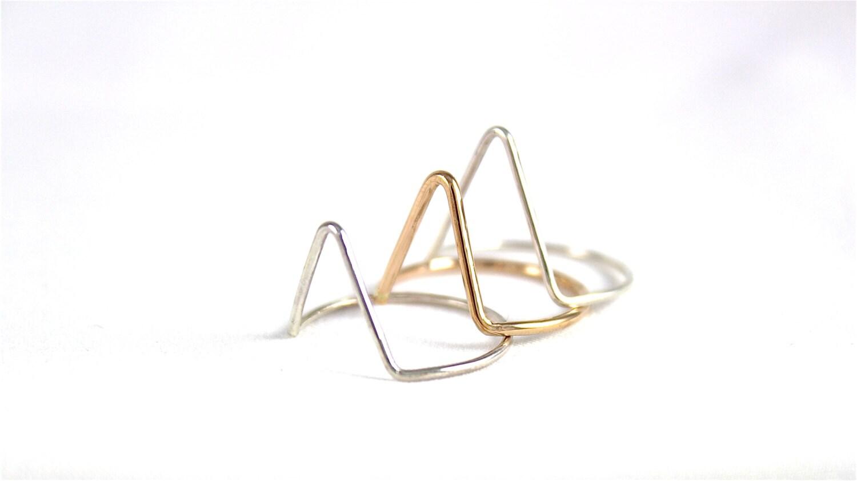Arrow Ring- Triangle ring- Knuckle Ring- Winter Fashion - ElishaMarie