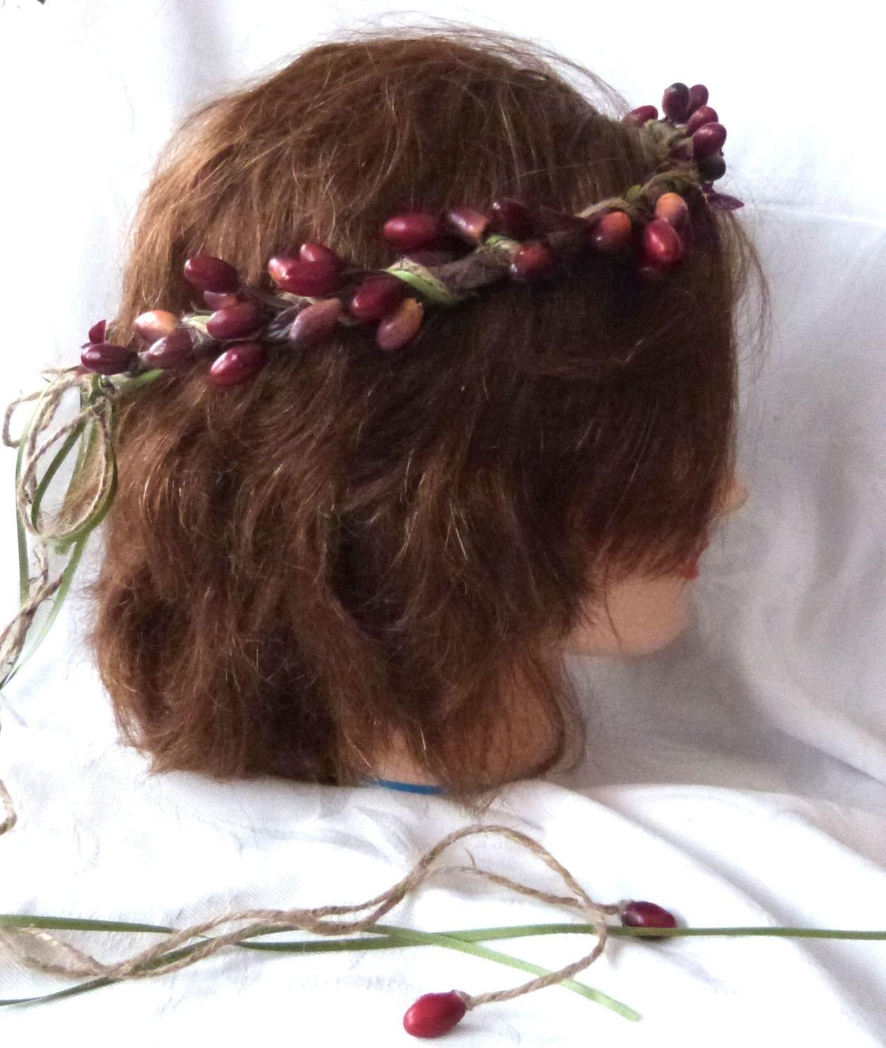 Wedding Hair Accessories Flower Girl Halo By ChurchMouseCreations