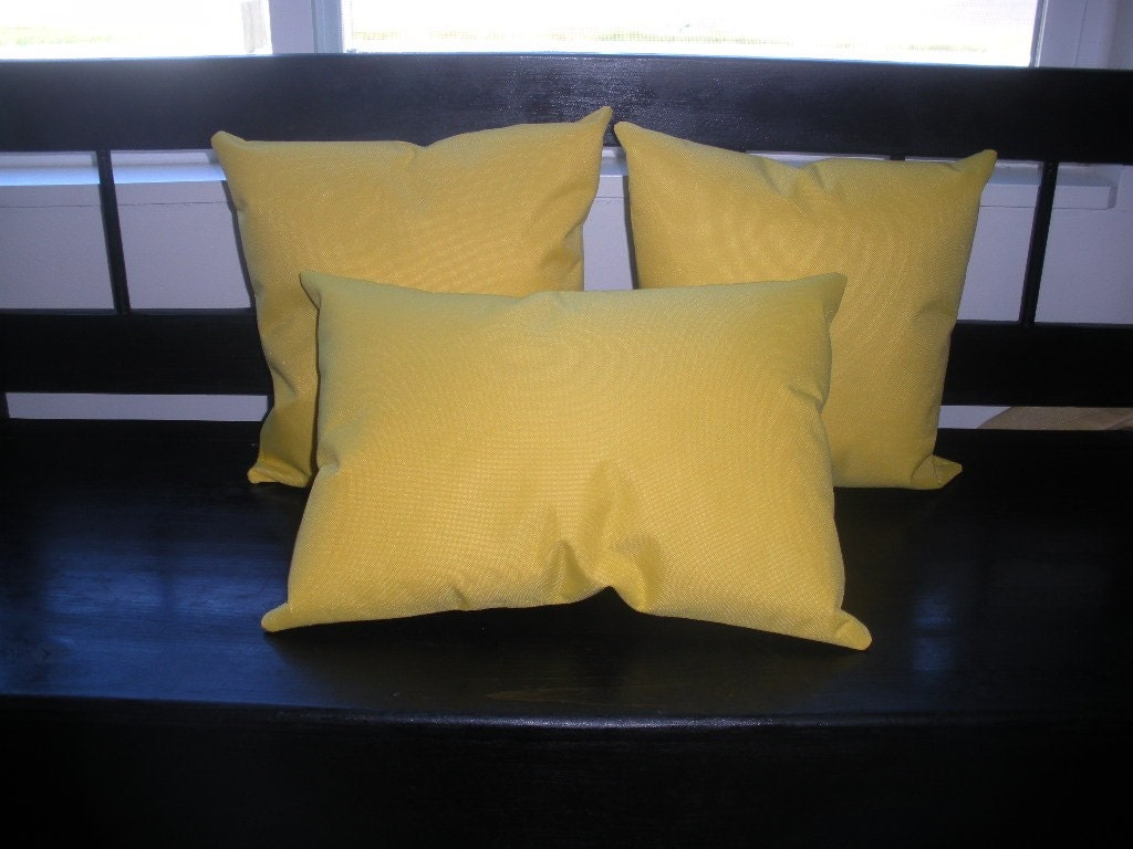 SALE Yellow Canvas Accent pillows