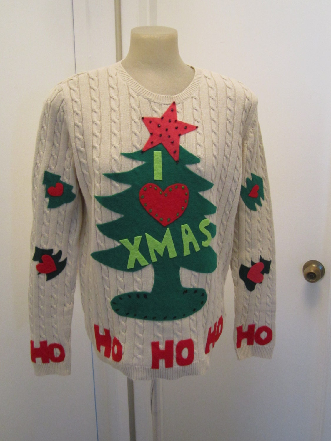 Grinch ugly christmas sweater size large 38 chest ugly christmas