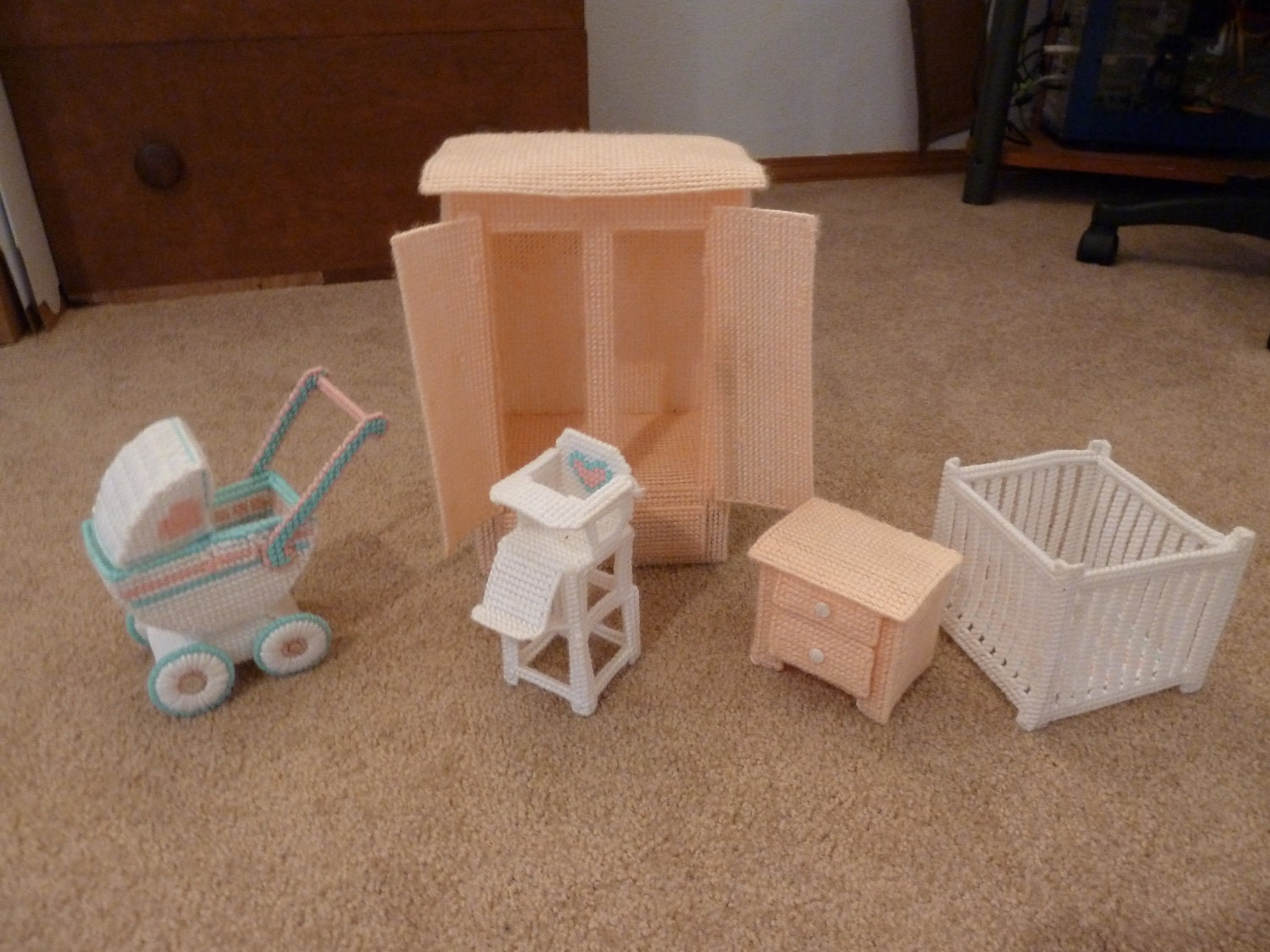 Hand Made Barbie Baby Furniture By Ladybugsshoppe On Etsy