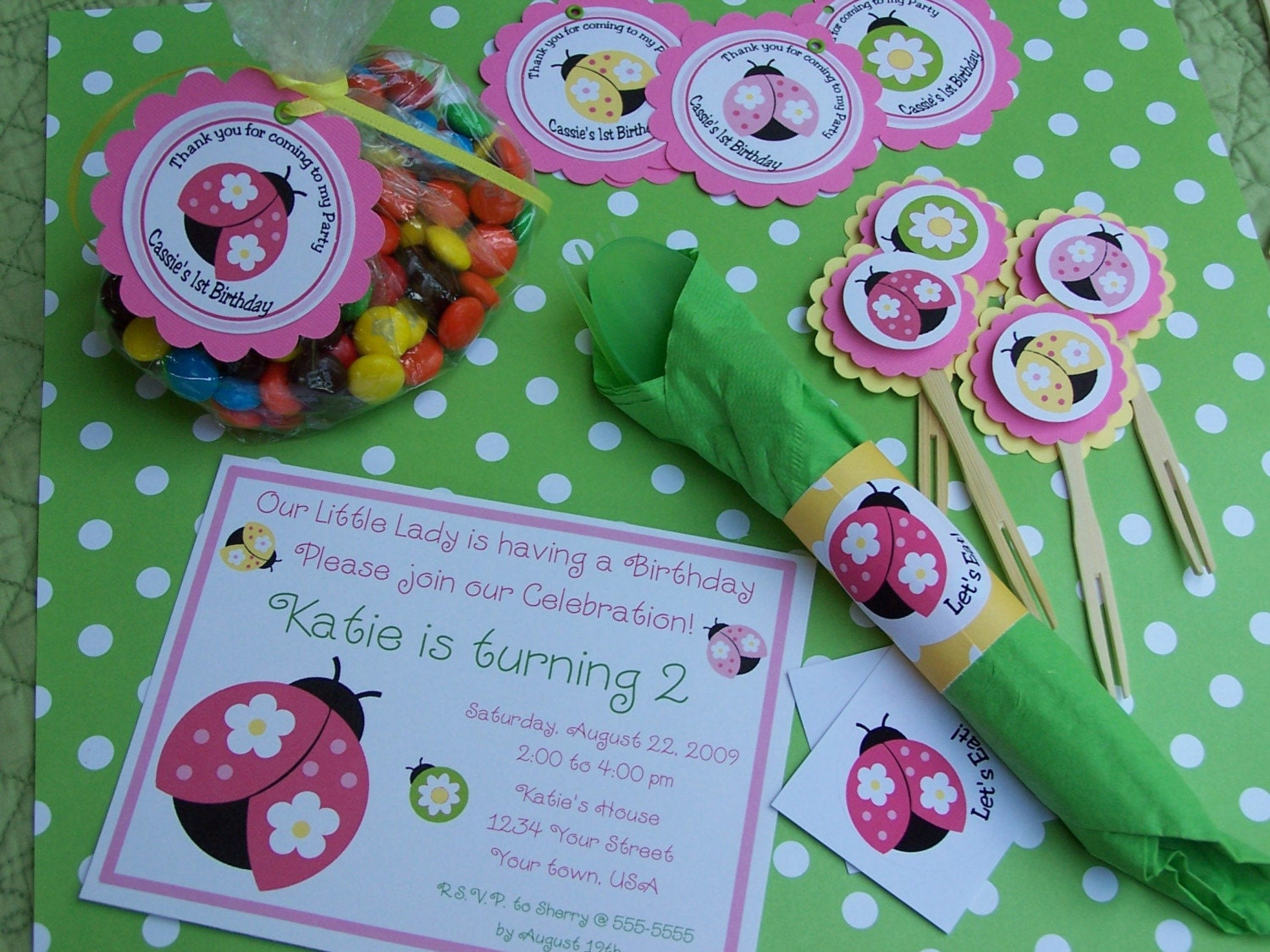 Cute Ladybug Party Package for eight from PartyPops