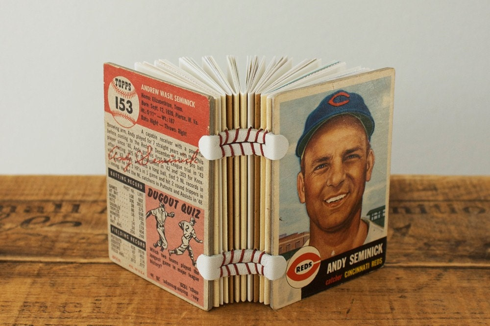 Baseball Card Book - Andy Seminick of the Cincinnati Reds