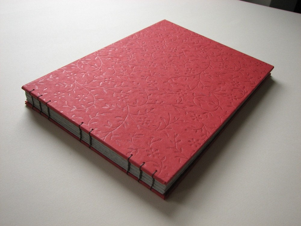 Embossed Red Photo Album
