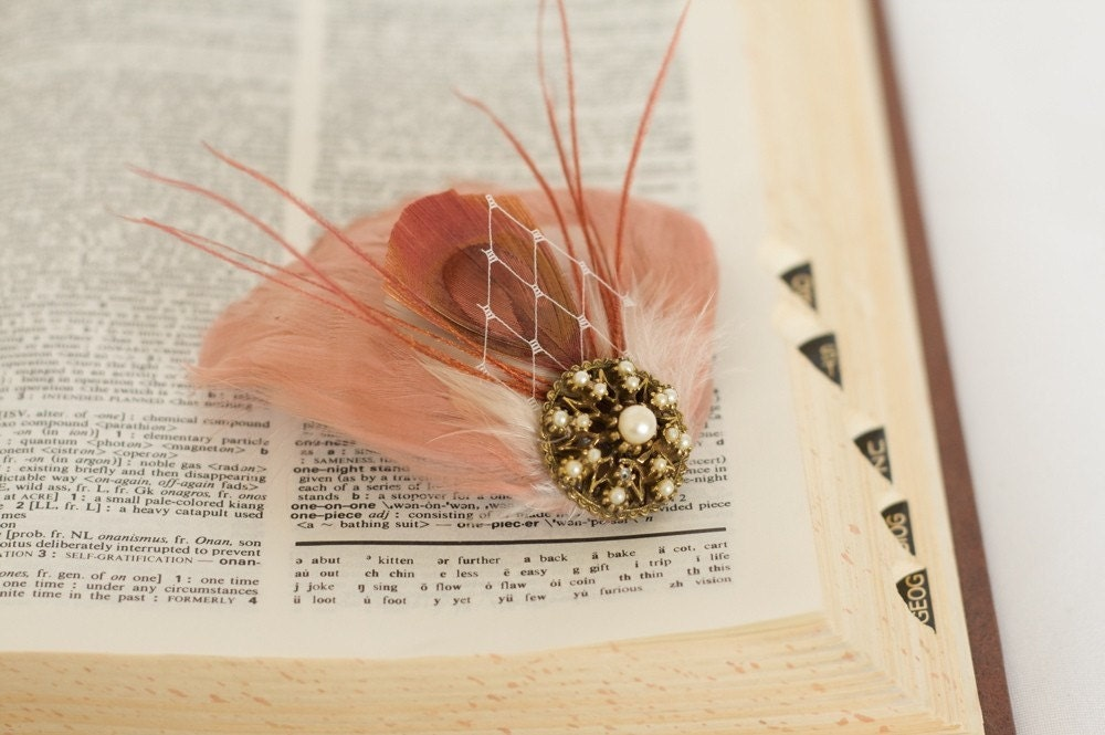 Custom Bridal Feather Fascinator