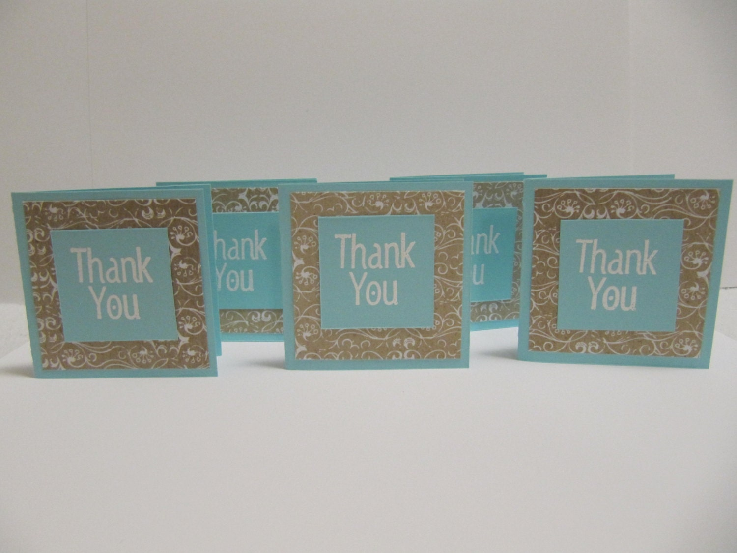Thank you cards, Mini cards Set of 20 thank you cards, Neutral thank you cards, Wedding thank you, Baby thank you - PapierMiche
